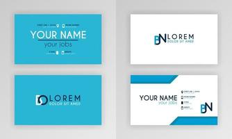 Blue Business Card Template. Simple Identity Card Design With Alphabet Logo And Slash Accent Decoration. For Corporate, Company, Professional, Business, Advertising, Public Relations, Brochure, Poster vector