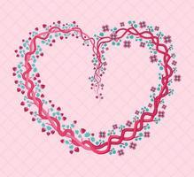 corazón floral rosa con tonos femeninos y femeninos. se puede utilizar para fiestas de graduación, bodas, matrimonios, moda, invitaciones, carteles, desolladores, eventos para mujeres, estampados, poser, tarjetas de felicitación vector