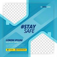 stay safe vector poster for work from home campaigns