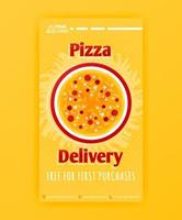 poster template of fast pizza free delivery for social media stories post and ads banner vector
