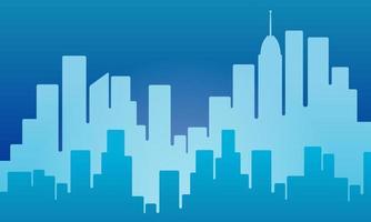 fondo de la ciudad en color azul y rascacielos. ambiente urbano para papel pintado e interior. los diseños se pueden utilizar para plantillas, medios impresos, folletos, capas, tarjetas, sitios web, páginas de destino, aplicaciones, web