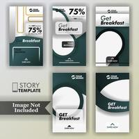 paquete de historias para restaurantes vector