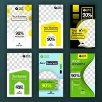 social media swipe stories set for background online promotion and online startup businesse. can be use for, landing page, website, mobile app, poster, flyer, coupon, gift card, smartphone ,web design vector