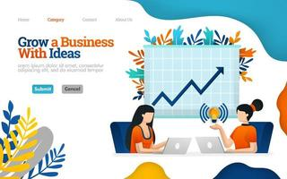 Increase business potential with work communication, talk to increase profits. Vector flat illustration concept, can use for, landing page, template, ui, web, homepage, poster, banner, flyer