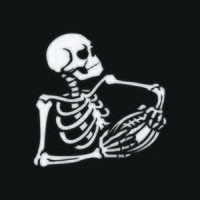 skeleton is playing american football, vector illustration