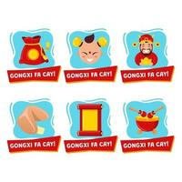 Chinese New Year Stickers vector