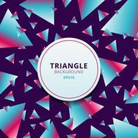 patrón abstracto triángulos geométricos de colores vibrantes sobre fondo púrpura. vector