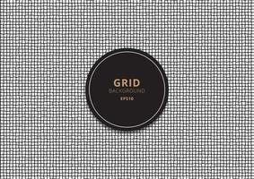 Abstract grid black stripes rough lines on white background. vector