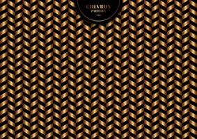 patrón de chevron de oro de moda abstracto sobre fondo negro y textura. vector