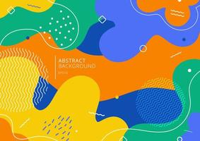 Abstract background trendy colorful splash cartoon overlay spot pattern of geometric shape, line and dot. vector