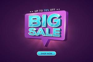 Big sale discount special offer banner discount