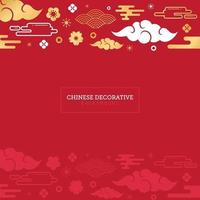 Chinese decorative background for new year greeting card vector