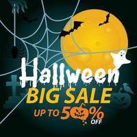 Halloween sale banner advertisement.