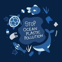 Stop ocean plastic pollution poster