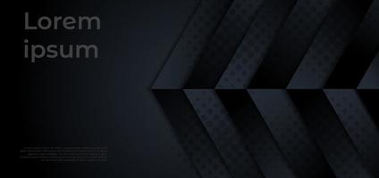 Modern template dark geometric overlapping background with copy space for text. vector