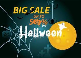 Halloween sale banner advertisement
