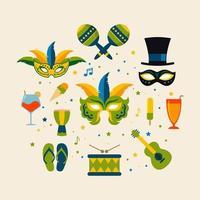 Brazilian Carnival object equipment vector illustration