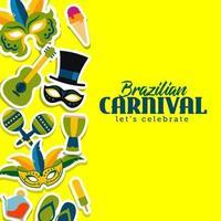 Brazilian Carnival template vector illustration