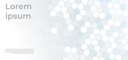 Abstract white and grey geometric hexagons corporate design background technology concept. vector