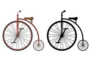 vieja ilustración de vector de bicicleta retro