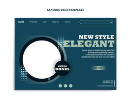 Landing page template for wristwatch business vector