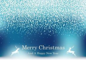 Abstract Blue Christmas Background With Glitter Particles And Text Space. vector