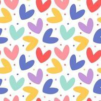 Cute hearts seamless pattern vector