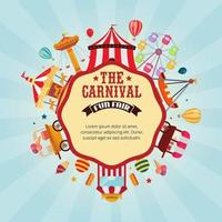 Carnival fun fair banner template vector illustration