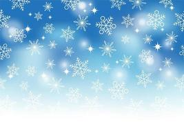 Abstract Winter Background With Text Space. Horizontally Repeatable. vector
