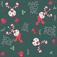 lovely and awesome deer seamless pattern vector