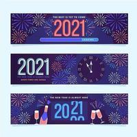 Banners de cuenta regresiva de año nuevo vector