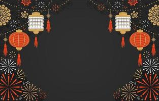 Chinese New Year Festivity Background vector