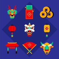Chinese New Year Icon Pack vector