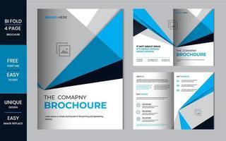 Bifold Brochure business folded flyer design template layout.
