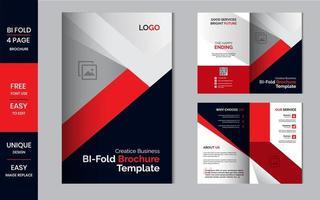 Bifold business brochure folded flyer design template layout