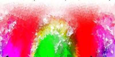 Fondo de mosaico de triángulo vector rosa claro, verde.