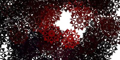 Light Red vector template with ice snowflakes.