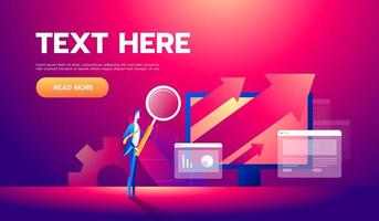 Business analysis concept banner with characters. Can use for web banner, infographics, business images. Flat isometric vector illustration.