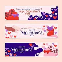Playful Valentine's Day Banners