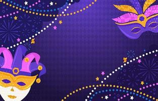 Mardi Gras Background with Carnival Masks