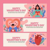 Valentine Day Theme with Love and Realistic Heart vector