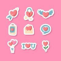 Valentine's Day Stickers vector