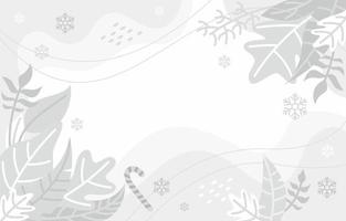 White Background with Winter Concept vector