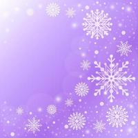 Elegant Gradient Purple Snowflakes Background