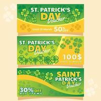Lucky Voucher of Saint Patricks Event vector