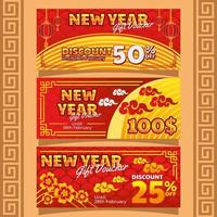 Promotion Exclusive for Lunar New Year vector