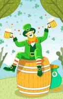 Leprechaun Cartoon Character vector
