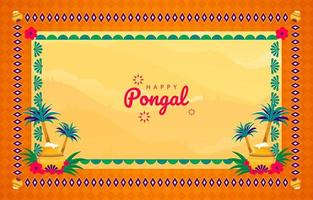 Happy Pongal Frame Background Concept vector