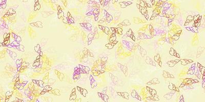 textura abstracta de vector multicolor claro con hojas.
