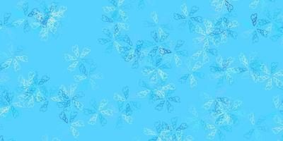 Light blue vector abstract template with leaves.